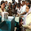 The President  Pratibha Devisingh Patil, going around the Innovation Exhibition at  Rashtrapati Bhavan.  .