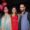 Sara Poses with Producers Rajita Sharma and Viveck Budakoti