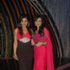 Raveena Tandon and Roshni Chopra on the sets of Comedy Ka Maha Muqabla. .