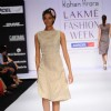 A model displays designer Rohan Arora's creations during the Lakme Fashion Week 2011 Day 5 in Grand Hyatt, Mumbai. .