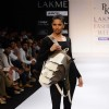 A model displays designer Prabhat kumar's creations during the Lakme Fashion Week 2011 Day 5 in Grand Hyatt, Mumbai. .