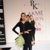 Models display designer Prabhat kumar's creation during the Lakme Fashion Week 2011 Day 5 in Grand Hyatt, Mumbai. .