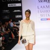 A model displays designer Rachana Reddy's creations during the Lakme Fashion Week 2011 Day 5 in Grand Hyatt, Mumbai. .