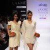 Models display designer Rachana Reddy's creation during the Lakme Fashion Week 2011 Day 5 in Grand Hyatt, Mumbai. .