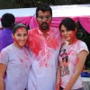 Shabir Ahluwalia with Kanchi Kaul and Aanchal Kumar at Holi Party at Versova