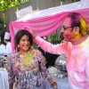 Ekta Kapoor & Gulshan Grover at Holi Party at Versova