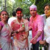 Shweta Salve and Rohit Roy at Ekta, Sanjay and Kiran Bawa's Holi Party at Versova