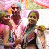 Kushal Punjabi with Shweta Salve & Narayani Shastri at Ekta, Sanjay and Kiran Holi Party at Versova