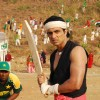 Sonu Sood playing a cricket