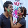 Indraneil Sengupta and Barkha Bisht at Zoom Holi Party in Tulip star