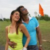 Romantic scene of Ajay and Kareena