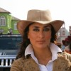 Kareena wearing a brown hat