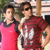 Ajay and Tusshar looking shocked