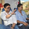 Sunil Shetty and Akshay Kumar during the promotion of their film 'Thank You'