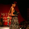 A model showcasing designer Sabyasachi's creation at the Wills Lifestyle India Fashion Week's Grand Finale ,in New Delhi on Sunday. .