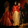 Models showcasing designer Anita Dongre's creations at the Wills Lifestyle India Fashion Week autumn winter 2011,in New Delhi on Sunday. .