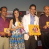 Tusshar & Amrita Rao with Sooraj Barjatya at Love U... Mr. Kalakaar! music Launch at Cinemax, Mumbai