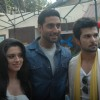 Abhishek Bachchan promotes GAME with RaQesh and Ridhi Dum Maro Dum on the sets of Maryada Juhu