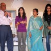 Yash Chopra, Asha Bhosle and Padmini Kohlapure at the muhurat of the film Maaee in Mumbai