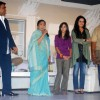 Ram Kapoor, Asha Bhosle and Padmini Kohlapure at the muhurat of the film Maaee in Mumbai