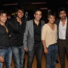 Tusshar Kapoor, Sundeep Kishan and Nikhil Dwivedi at premiere of movie 'Shor In The City'