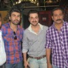 Arya Babbar, Mukesh Tiwari and Sanjay Kapoor at Mumbhai film Mahurat at Dockyard