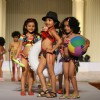Kids walk the ramp at Silhousettes 2011 Vintage Vogue Fashion show by B. D. Somai Institute of Art
