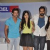Hrithik Roshan, Katrina Kaif and Abhay Deol at Zindagi Na Milegi Dobara first look in Novotel on 15th May 2011. .