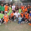 Dilip Vengsarkar and Rahul Bose at celebrity hockey match. .