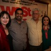Om Puri, Ila Arun and Shankar Mahadevan at press meet of Film 'West is West'