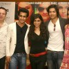 Film 'Always Khabhi Kabhi' director Roshan Abbas with cast at a promotional event for his film