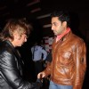 Shakti Kapoor and Abhishek Bachchan  at Bin Bulaye Baarati premiere at Cinemax. .