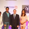 New Zealand Prime Minister John Key visited the sets of Bollywood film Players in Film City, Mumbai and met Abhishek Bachchan and Bipasha Basu