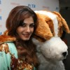 Raveena Tandon unveil homeless dog adoption campaign ad of PETA at Zenzi Resto-Bar in Bandra, Mumbai