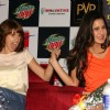 Katrina and Kalki of film 'Zindagi Na Milegi Dobara' at Gurgaon for film promotion