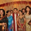 Madhuri and Moushmi Chatterji at Dr Abhishek and Dr Shefali's wedding reception Khar