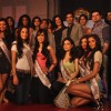 Sushmita, Manish Malhotra with models in I am She 2011 Ed Hardy fashion show at Trident
