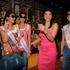Sushmita with I am She contestants on a shopping spree at Ed Hardy showroom at Palladium