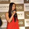 Kareena Kapoor with Sony MD Mr. Masaru Tamagawa at press conference of Sony India in Hotel Hyatt Regency, Mumbai