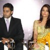 Aishwarya Rai and Abhishek Bachchan, at the award ceremony of 'Knight of the Order of Arts and Letters',in New Delhi