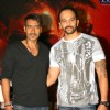 "Ajay Devgan and Rohit Shetty at press meet to promote their film ""Singham"", in New Delhi"