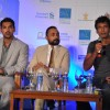 John, Rahul and Milind during the launched of registrations for Mumbai Marathon 2012 categories of 9th Edition at Trident Hotel