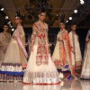 Models showcasing designer Manish Malhotra's creations at Synergy1 Delhi Couture Week,in New Delhi