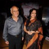 Yash Chopra and Tanvi Azmi at the premiere of Buggle Gum at Cinemax