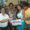 Veena Malik with Shakti Kapoor at the mahurat of film Daal Me Kuch Kaala Hai at Lokhandwala, Mumbai