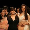 Bipasha with her mother Mamta Basu on the ramp for Neeta Lulla Show at the IIJW 2011 at Grand Hyat