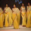 Models walk on the ramp for Manubhai Gems at IIJW 2011 show day 3. .