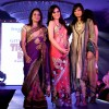Shazahn Padamsee walking on the ramp for Designer Pallavi Goenka