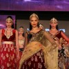Dia Mirza walks the ramp for designer Vikram Phadnis at the Blenders Pride Fashion Tour 2011 finale