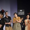 Model with designers Shraddha and Mayank's collection during the first day of Lakme fashion week winter/festive 2011, in Mumbai. .